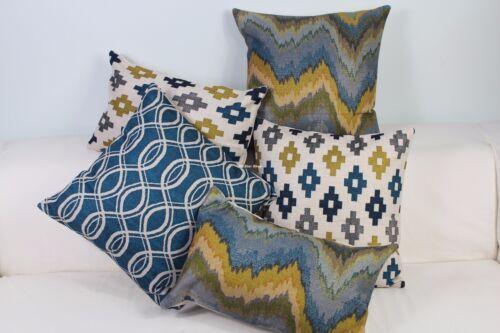 "Vintage Geometric pattern Linen Home Decor Cotton CUSHION COVER Throw PILLOW 18"""