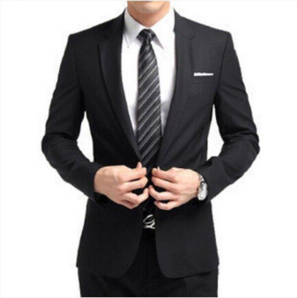Vogue Formal Men Slim Fit Stylish Suit/Suits one-button set Jacket pants tie Hot