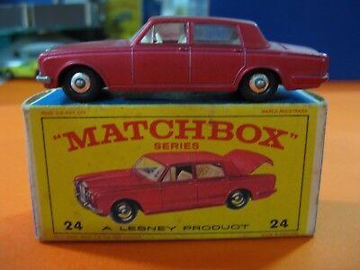 Aggressivo Vintage 60/70´s Matchbox Lesney Nº24 Rolls Royce Silver Shadow Con Metodi Tradizionali