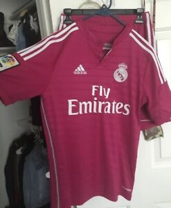 super popular 4ccb0 37133 Details about Real Madrid 2014/2015 Adidas Pink Soccer Jersey- Size Boys XL