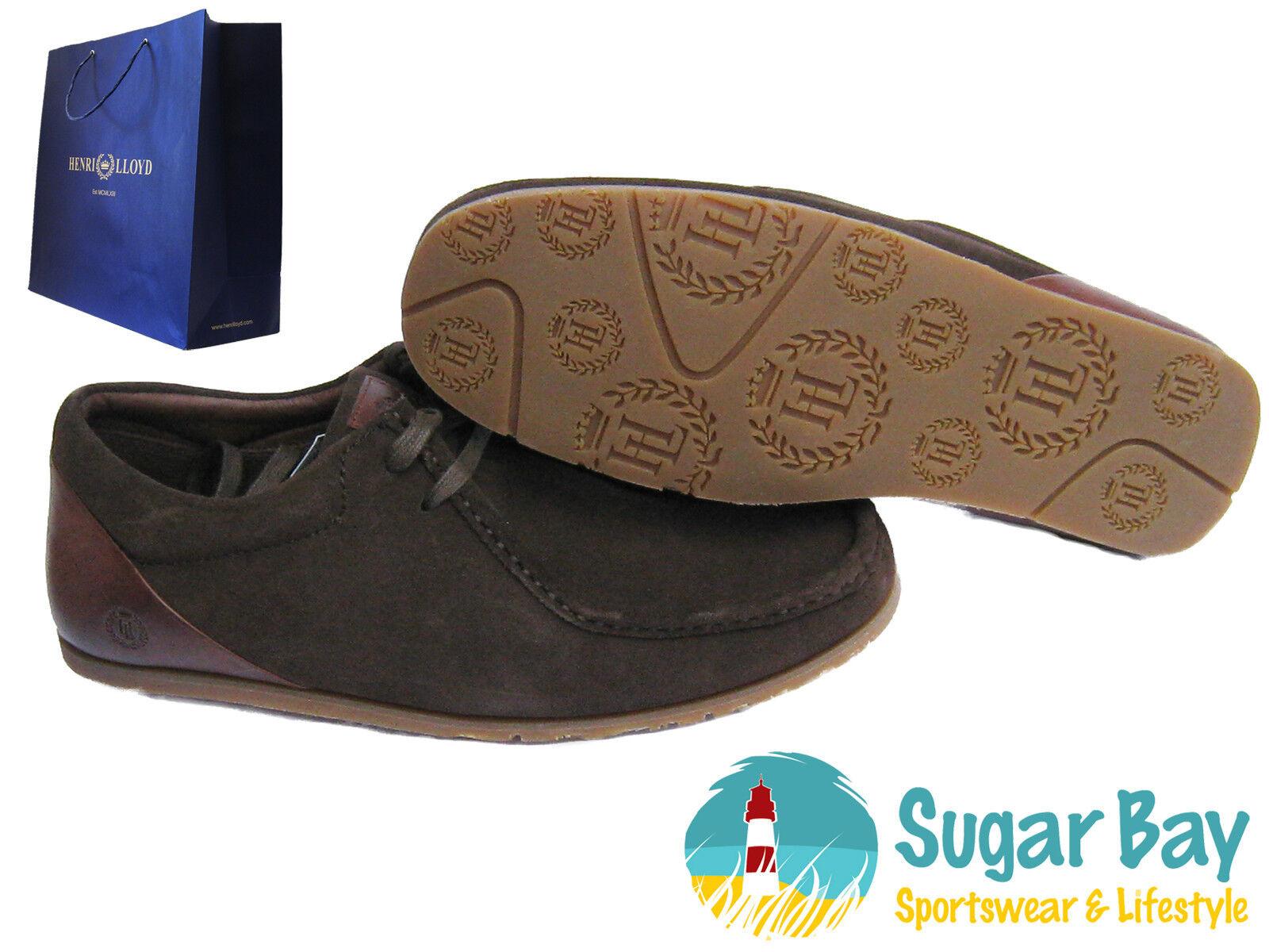 New HENRI LLOYD MENS STUD G2 Leather MOCCASINS Size Dark Brown Shoe UK Size MOCCASINS 8 Eu 42 cb9bd2