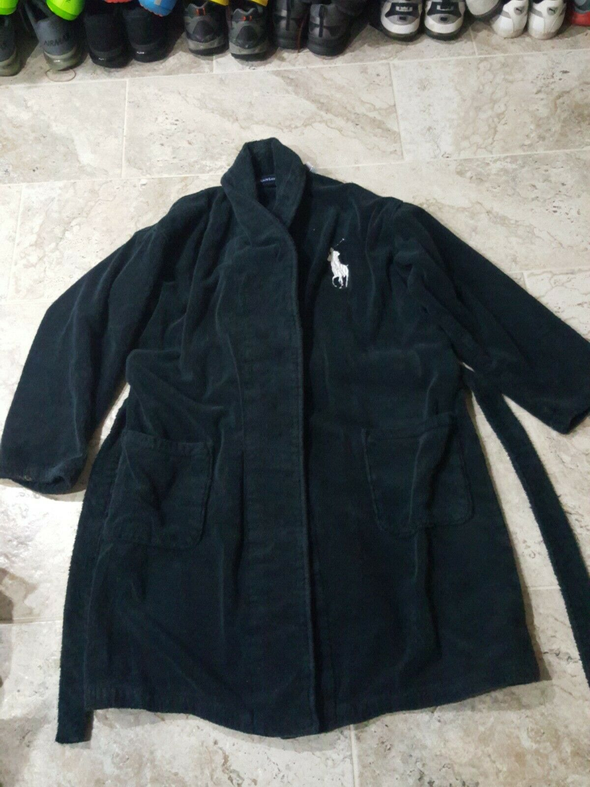 POLO RALPH LAUREN BATH ROBE 1 Größe FITS ALL BIG LOGO  LOOK  ONLY ONE LIKE THIS