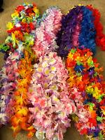 Hawaiian Luau Flower Plastic Leis Favor Party Supplies Decorations Lot 50pc Bulk