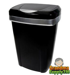 13 Gallon Trash Can Hefty Kitchen Waste Garbage Basket Bin