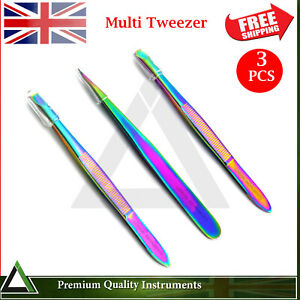 Professional-Multi-colour-Stainless-Steel-Eyebrow-Hair-Beauty-tweezers