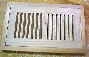 Red oak wood cold air return register floor vent for 10 l for Wood floor register 8 x 10