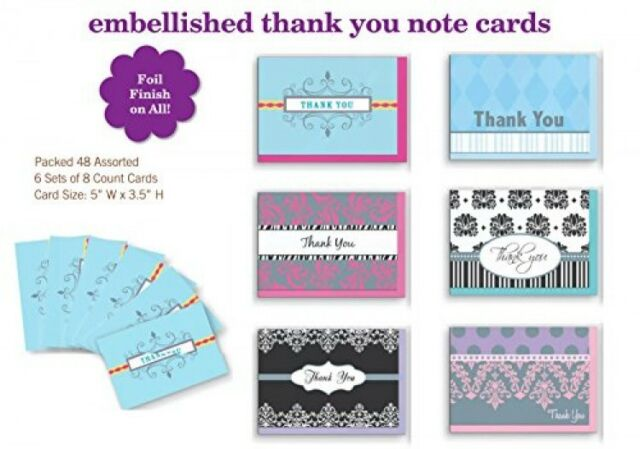 assorted thank you appreciation cards bulk blank note set 48 pack