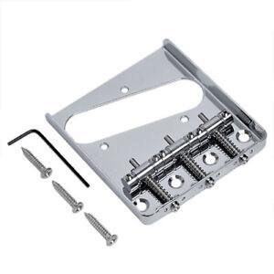Guitar-Vintage-Bridge-For-Fender-Telecaster-Tele-Assembly-3-Saddle-Chrome