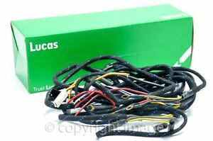 wiring harness bsa b31 b33 m20 m21 rigid plunger genuine lucas rh ebay com au BSA Positive Ground Wiring Diagram Motorcycle Wiring Diagrams Dual Coil