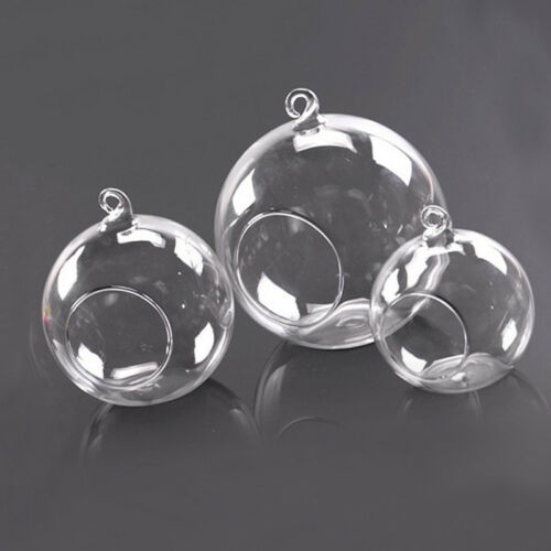 Clear Plastic Christmas Balls Baubles Sphere Fillable Xmas Tree Ornament Decor