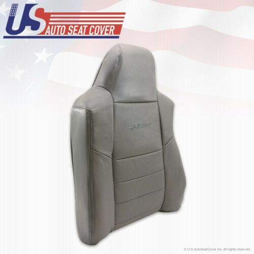 02-07 Ford F-250 F-350 Driver Top Lean Back perforated Leather Seat Cover Gray
