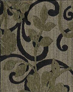 Keilanna Jade Swavelle Mill Creek Black Gold Gray Vine Pattern