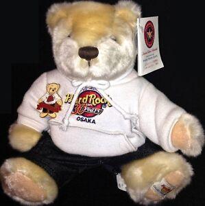 Hard-Rock-Cafe-OSAKA-2001-Grand-Opening-TEDDY-BEAR-Pin-amp-Plush-Production-Sample