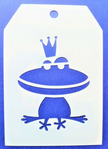 Flexible Stencil *PRINCE CHARMING FROG* Wedding Card Making 9cm x 12.5cm