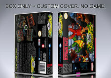 BATTLETOADS DOUBLE DRAGON. NTSC VERSION. Box/Case. Super Nintendo. (NO GAME)