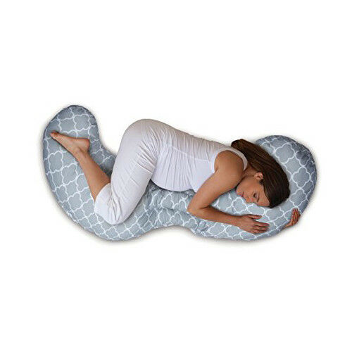CHICCO Boppy Total Body Pillow Schwangerschaftskissen Single Farbe Glacier