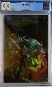 TEEN-TITANS-12-CGC-9-9-WP-FOIL-CONVENTION-VARIANT-1ST-APP-BATMAN-WHO-LAUGHS-9-8