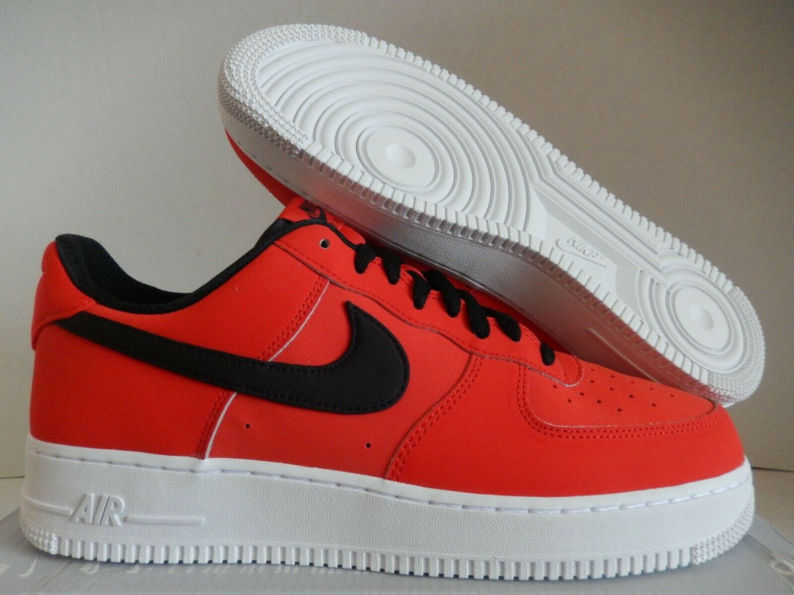 NIKE AIR FORCE 1 07 LEATHER HABAblack RED-BLACK-WHITE SZ 14