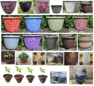 Details Sur Plusieurs Taille Plante Pots Planters Bol Terrasse Pot Plastique Rond Jardiniere Jardin Afficher Le Titre D Origine