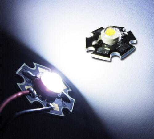 1 unidades IMAX = 350ma 110 LM 1w Power LED en frío-blanco 12000-15000k Star UF = 3,2v