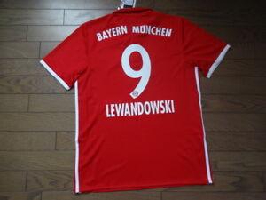 the latest 060c4 4df6e Details about Bayern Munich Munchen #9 Lewandowski 100% Original 2015/16  Home Jersey Shirt M