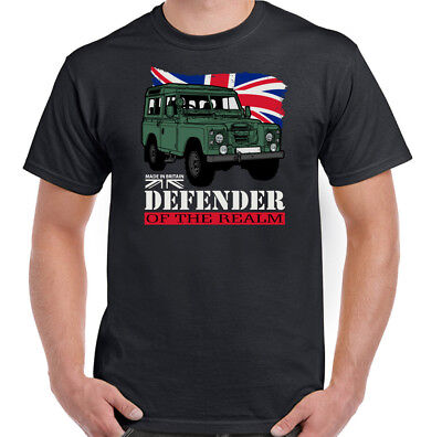 Defenders Of the Realm Mens Funny T-Shirt 90 110 127 4X4  SVX Rover Top