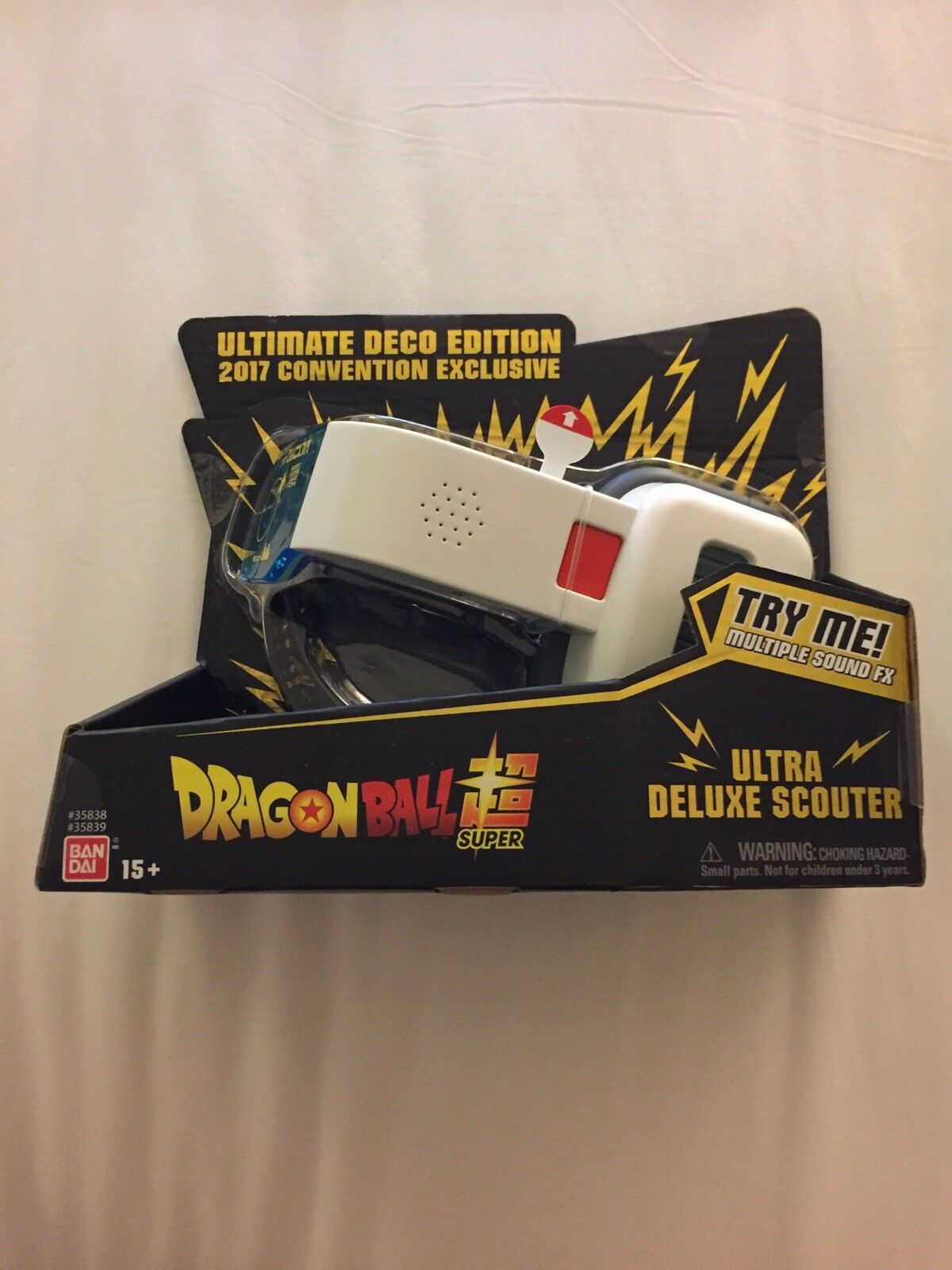 SDCC 2017 Exclusive Dragon Ball Super Ultra Deluxe Scouter Ultimate Deco Edition