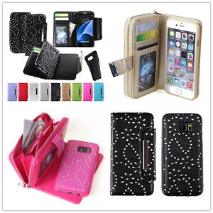 All-in-One-Zip-Wallet-Coin-Purse-Flip-Leather-Magnet-Case-Cover-For-Apple-iPhone
