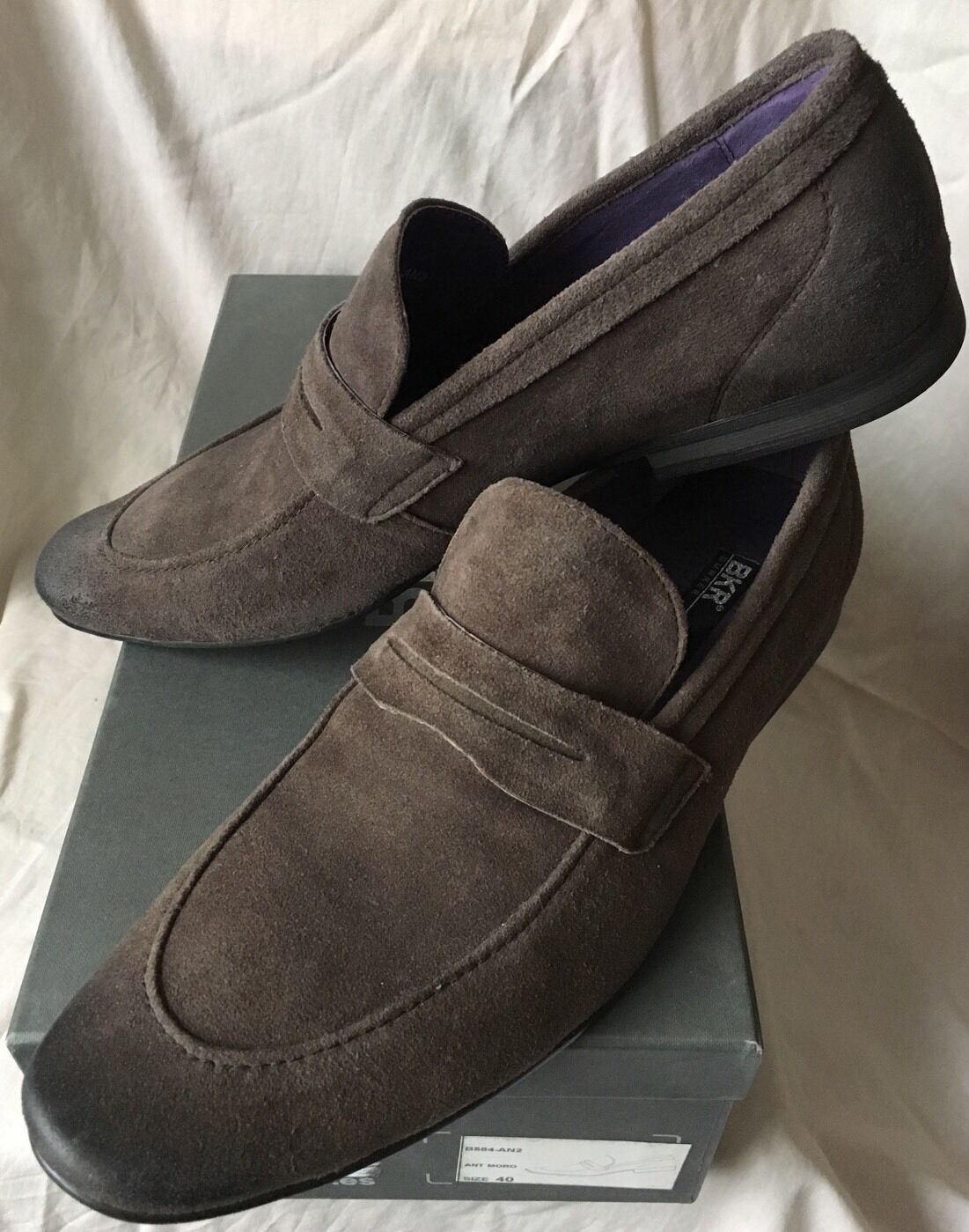 SOLD OUT RARE BROWN BUNKER BKR LEATHER Schuhe MOCASSINS Schuhe LEATHER CHAUSSURES  B584 SIZE 40 300cfd