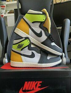 🔥 NEW Nike Air Jordan 1 Retro High OG VOLT Gold Men's Size 8 555088-118