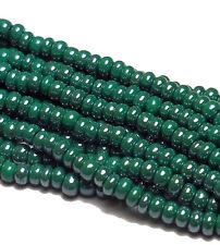 Dark Green Luster Czech 11/0 Glass Seed Beads 1(6 String Hanks) Preciosa