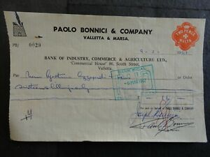 BICAL BANK CHEQUE WITH 2d REVENUE STAMP NO 29