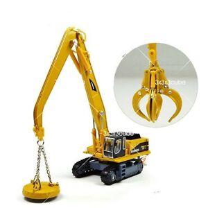 1-87-Grab-Magnet-Attachment-Crane-Construction-Equipment-Diecast-Model-Truck