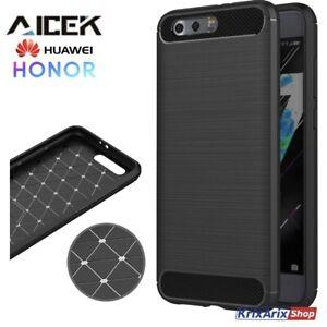 AICEK Cover per Smartphone Huawei HONOR 9 Custodia Fibra Di Carbonio Design NERA