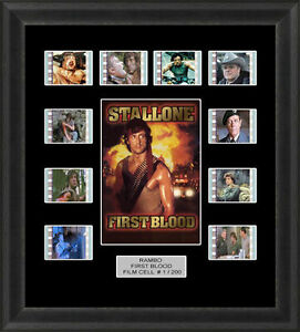 Rambo-First-Blood-Framed-35mm-Film-Cell-Memorabilia-Filmcells-Movie-Cell