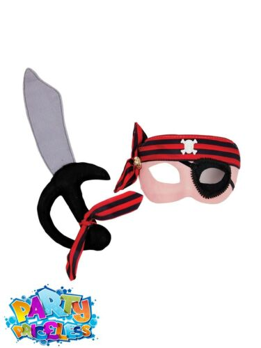 Boys Pirate Mask and Cutlass Set Buccaneer Shipmate Fancy Dress Accessory Kids