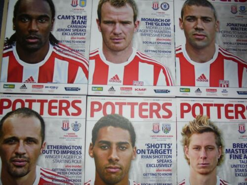 2012//13 STOKE HOME PROGRAMMES CHOOSE FROM