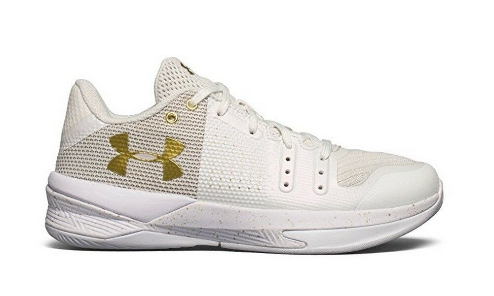 Under Armour UA Women's Block City Volleyball Shoes White 1290204 100 Size 5.5