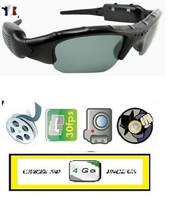 LUNETTES SPORT HD-MINI DV-CAMERA ESPION (VIDEO, AUDIO, PHOTO)+  MICRO SD 4 GO