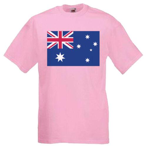 3XL Australia Flag Adults Mens T Shirt 12 Colours  Size S