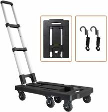 Portable Luggage Cart With330lb Capacity Aluminum Hand Truck And Dolly 7 Wheels