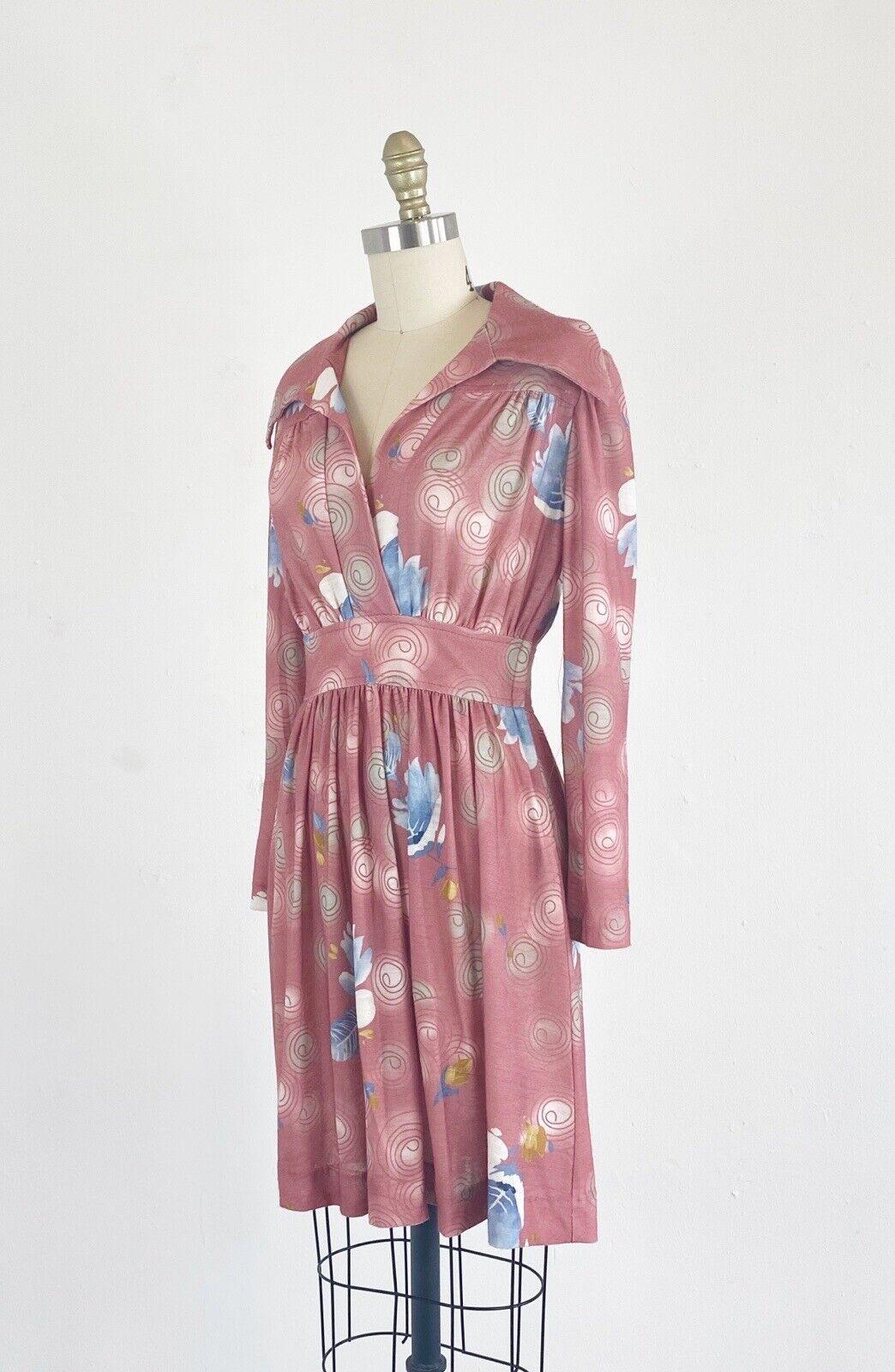 1970s Floral Dress - 1970s Mini Dress - Floral Mi… - image 6