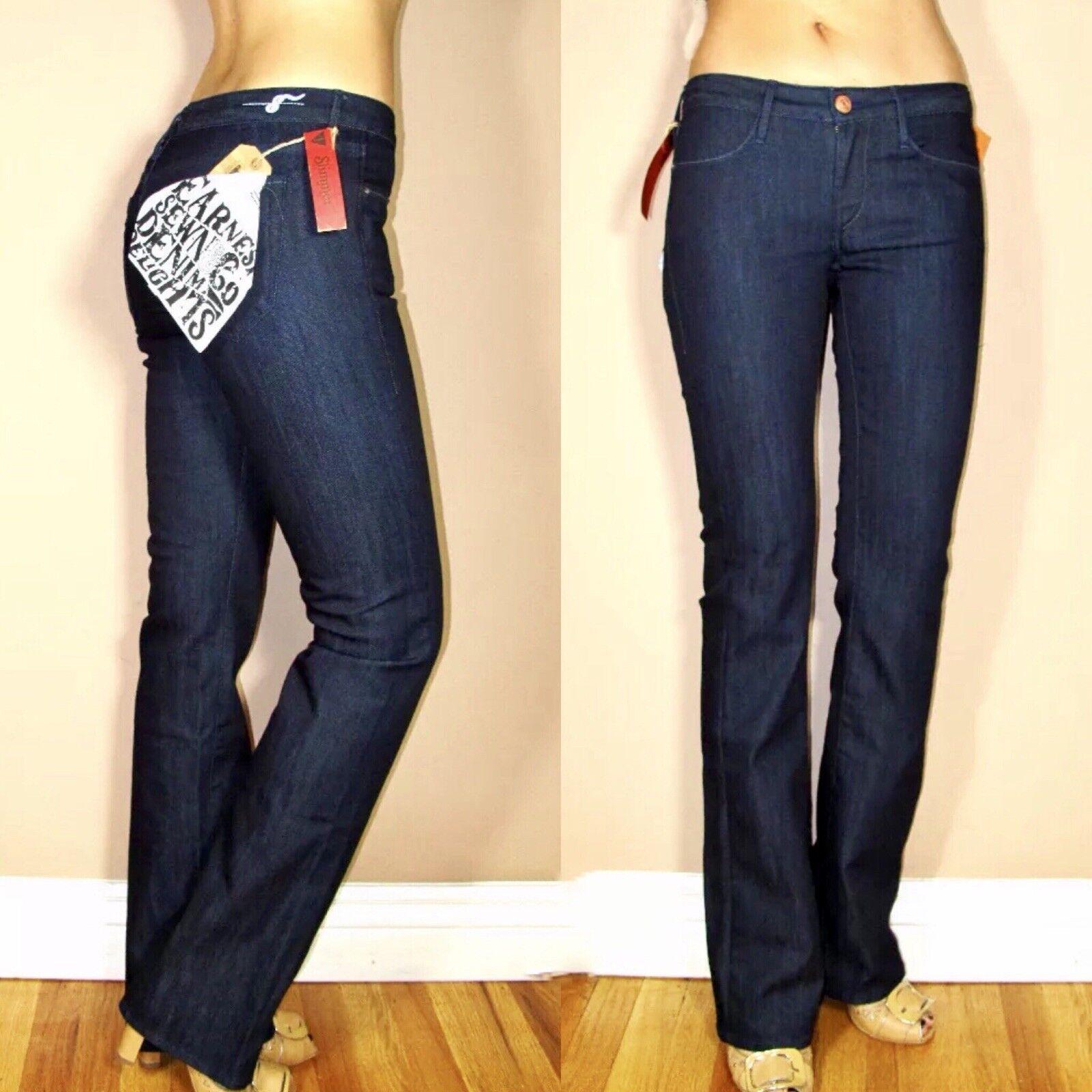 ny Woherrar  158 Earnest Sewn Keaton SLIMMING känga känga Dark täckaed jeans 24