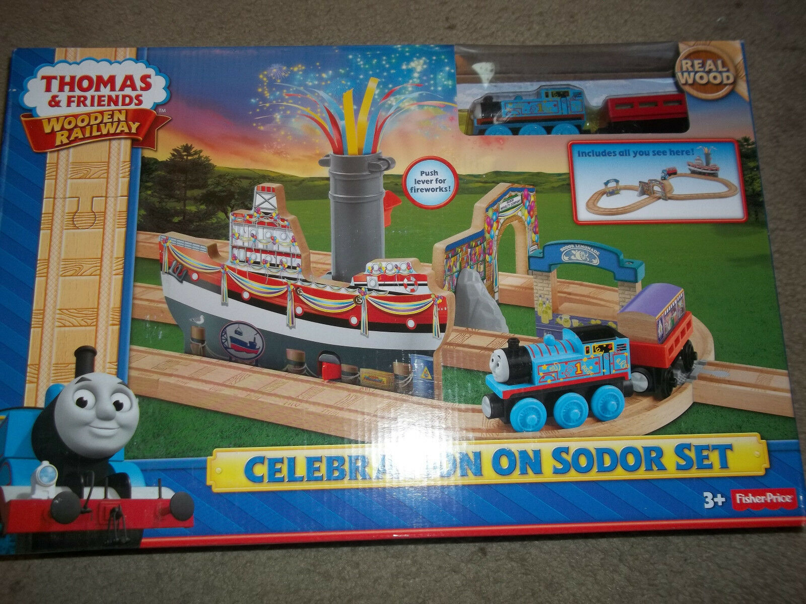 Thomas & Friends Wooden Railway Celebration On Sodor Set  New
