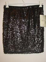 Lily Rose Matte Black All Sequins Skirt Lined Elastic Waist Sissy Holiday-s-nwt