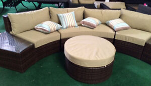 image is loading outdoor sofa 6pcs sectional wicker brown las vegas