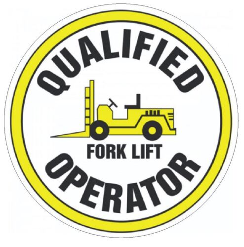 Qualified Fork Lift Operator Hard Hat Decal Hardhat Sticker Helmet Label H107