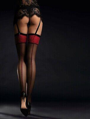 Razionale Fiore Reggicalze Calze Scarlett 20 Den Spettacolare Scarlet Dettagli Nuovo-