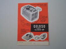 advertising Pubblicità 1959 REGISTRATORE GELOSO G 255 SP