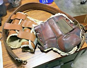 Used 2 Pair of Tendon Boots & 1 English Girth Splint Sport Jump Horse Tack NR